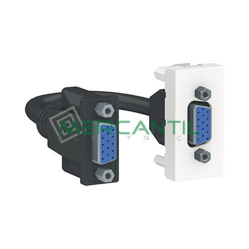 Base VGA 1 Modulo New Unica SCHNEIDER ELECTRIC Blanco