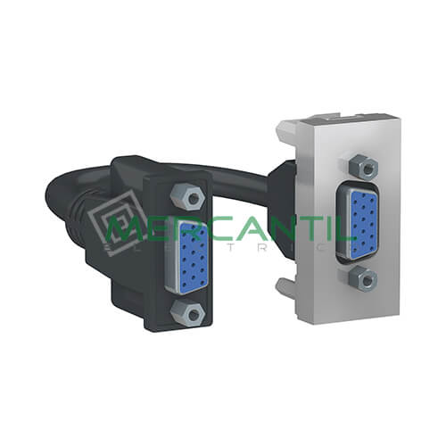 Base VGA 1 Modulo New Unica SCHNEIDER ELECTRIC Aluminio
