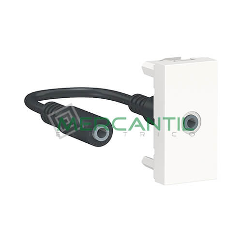 Base Mini Jack 3.5mm 1 Modulo New Unica SCHNEIDER ELECTRIC Blanco