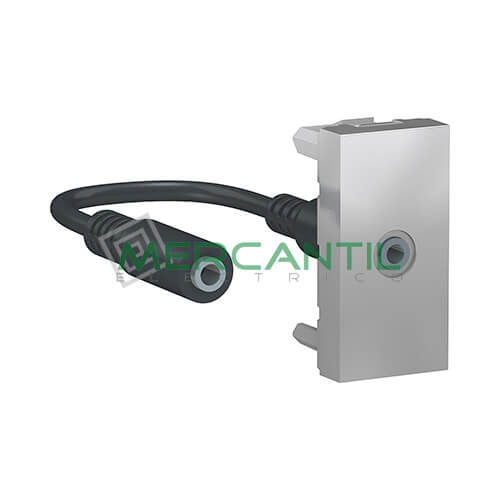 Base Mini Jack 3.5mm 1 Modulo New Unica SCHNEIDER ELECTRIC Aluminio