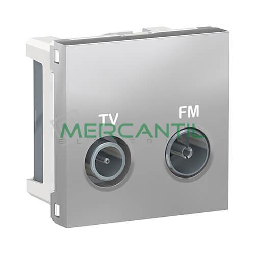 Base Final TV-FM 2 Modulos New Unica SCHNEIDER ELECTRIC Aluminio