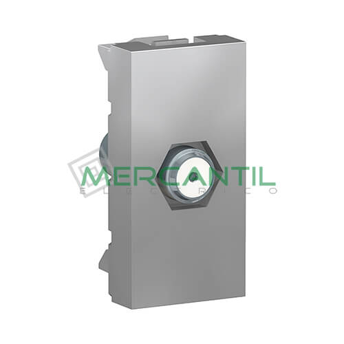 Base TV/SAT Tipo F 1 Modulo New Unica SCHNEIDER ELECTRIC Aluminio