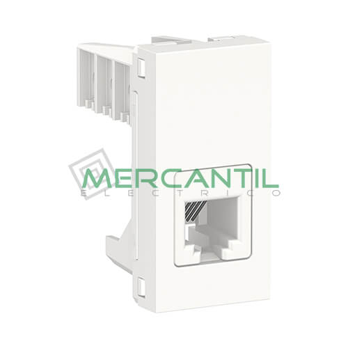 Base de Telefono RJ12 1 Modulo New Unica SCHNEIDER ELECTRIC - 6 Contactos Blanco