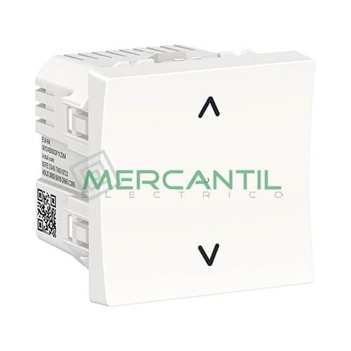 Interruptor de Persianas Wiser 2 Modulos New Unica SCHNEIDER ELECTRIC Blanco