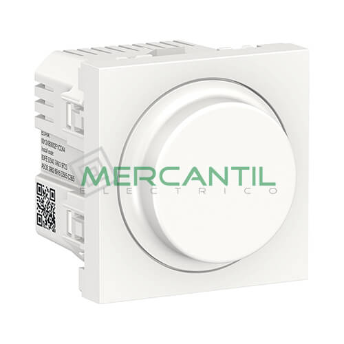 Regulador LED Universal Giratorio Wiser 2 Modulos New Unica SCHNEIDER ELECTRIC Blanco