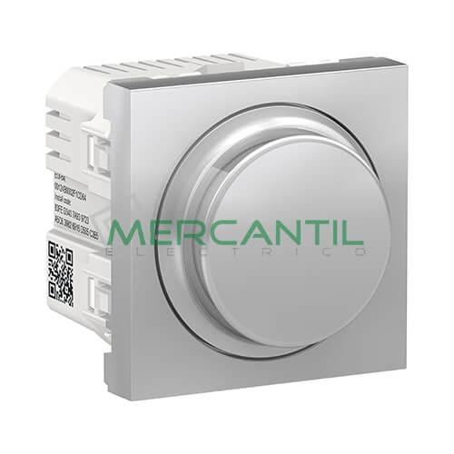 Regulador LED Universal Giratorio Wiser 2 Modulos New Unica SCHNEIDER ELECTRIC Aluminio