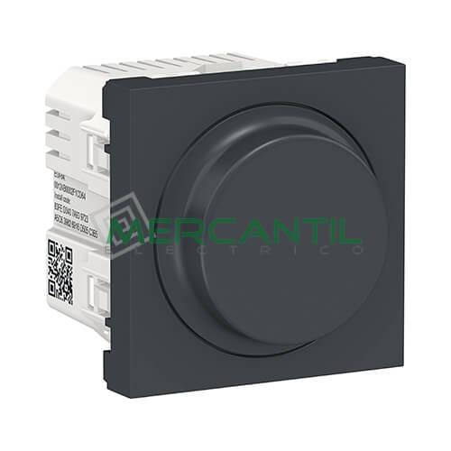 Regulador LED Universal Giratorio Wiser 2 Modulos New Unica SCHNEIDER ELECTRIC Antracita