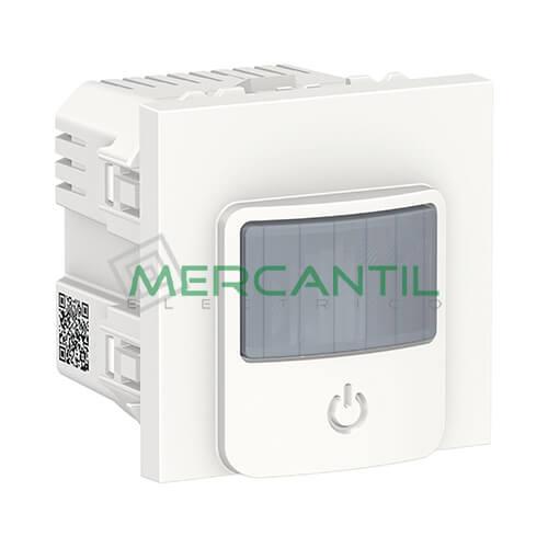 Detector de Movimiento con Interruptor 10A 2 Modulos New Unica SCHNEIDER ELECTRIC Blanco