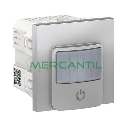 Detector de Movimiento con Interruptor 10A 2 Modulos New Unica SCHNEIDER ELECTRIC Aluminio