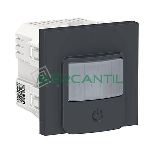 Detector de Movimiento con Interruptor 10A 2 Modulos New Unica SCHNEIDER ELECTRIC Antracita