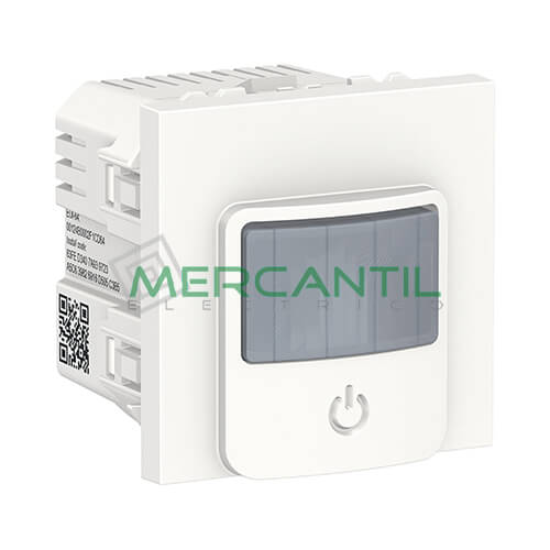Detector de Movimiento Wiser con Interruptor 10A 2 Modulos New Unica SCHNEIDER ELECTRIC Blanco