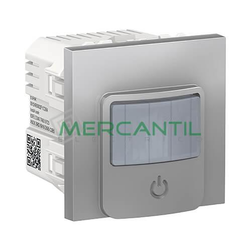 Detector de Movimiento Wiser con Interruptor 10A 2 Modulos New Unica SCHNEIDER ELECTRIC Aluminio