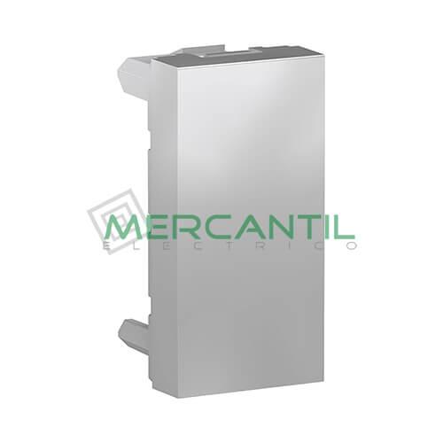 Tapa Ciega 1 Modulo New Unica SCHNEIDER ELECTRIC Aluminio