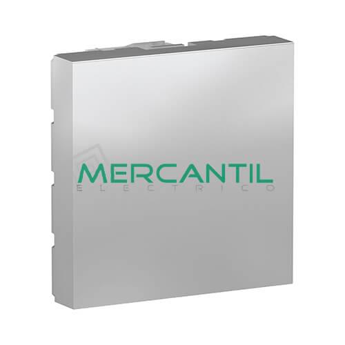 Tapa Ciega 2 Modulos New Unica SCHNEIDER ELECTRIC Aluminio