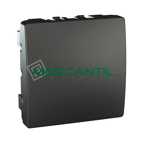 Tapa Ciega 2 Modulos New Unica SCHNEIDER ELECTRIC Antracita