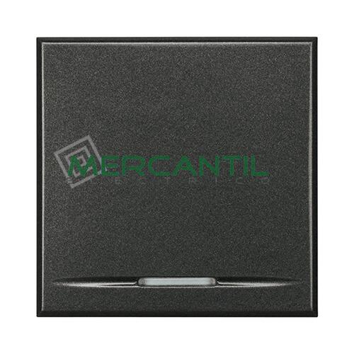Pulsador Iluminable Basculante 2 Modulos Axolute BTICINO Antracita