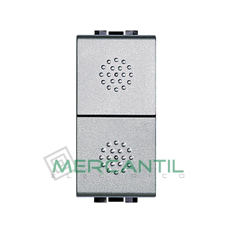 Pulsador Doble 1 Modulo Living Light BTICINO Tech