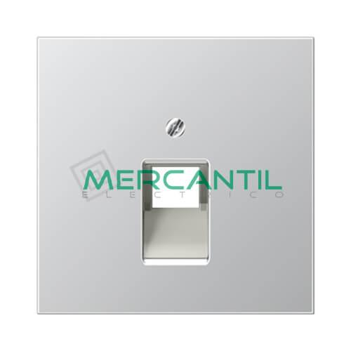 Placa para Toma de Telefono RJ11 y Datos RJ45 UAE LS990 JUNG - 1 Conector Aluminio