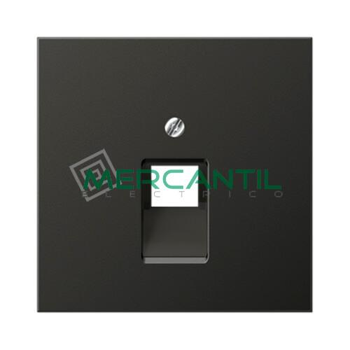 Placa para Toma de Telefono RJ11 y Datos RJ45 UAE LS990 JUNG - 1 Conector Antracita