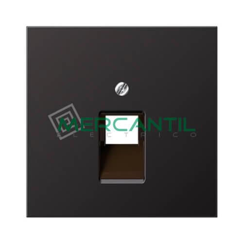 Placa para Toma de Telefono RJ11 y Datos RJ45 UAE LS990 JUNG - 1 Conector Dark