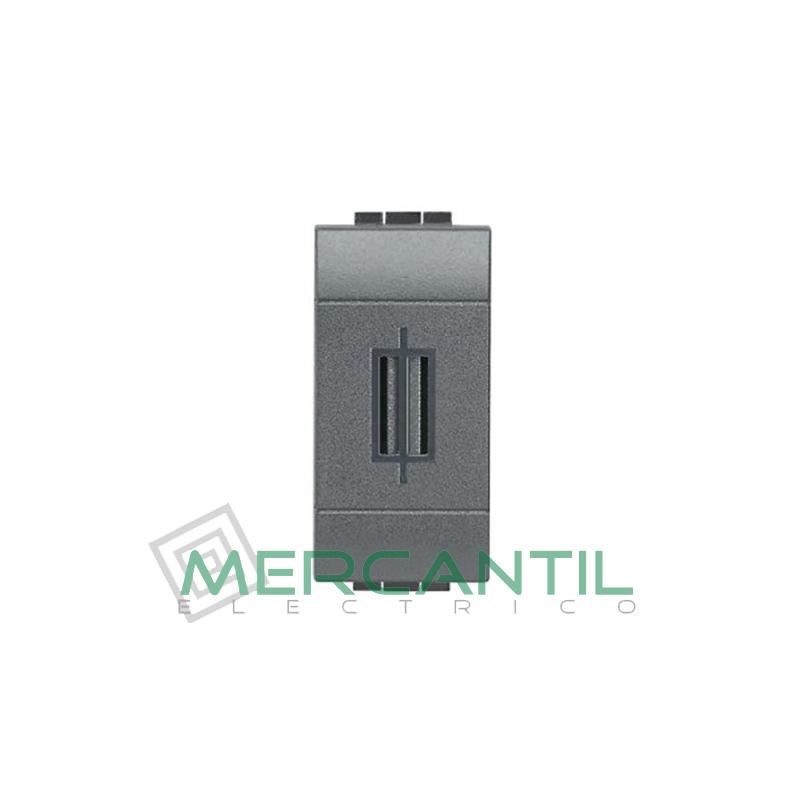 Portafusible para 10A 1 Modulo Living Light BTICINO Antracita