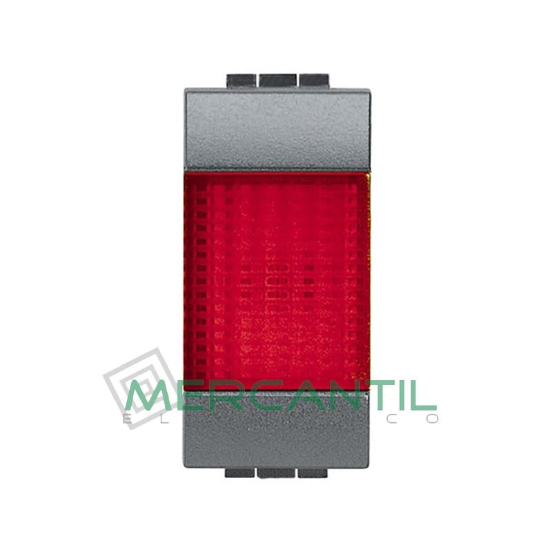 Portalamparas con Difusor 1 Modulo Living Light BTICINO - Color Rojo Antracita