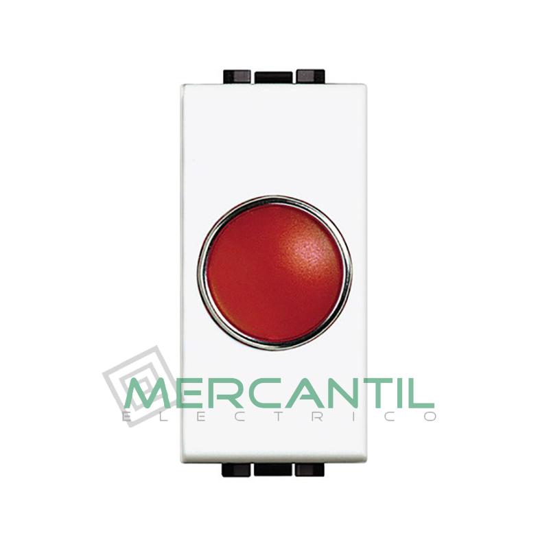 Portalamparas con Difusor 1 Modulo Living Light BTICINO - Color Rojo Blanco