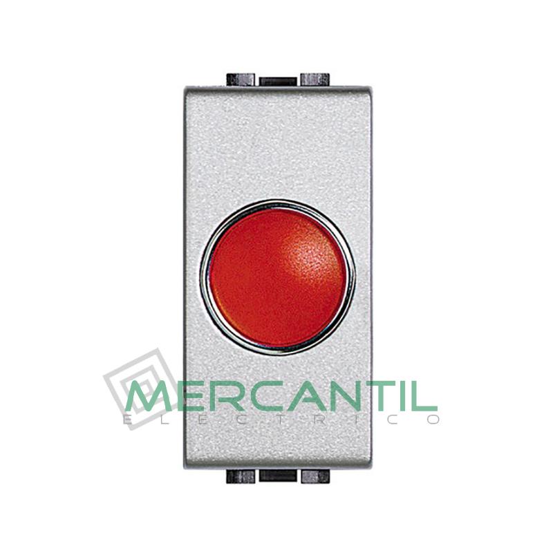 Portalamparas con Difusor 1 Modulo Living Light BTICINO - Color Rojo Tech