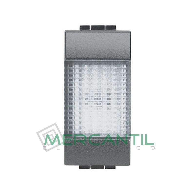 Portalamparas con Difusor 1 Modulo Living Light BTICINO - Color Transparente Antracita