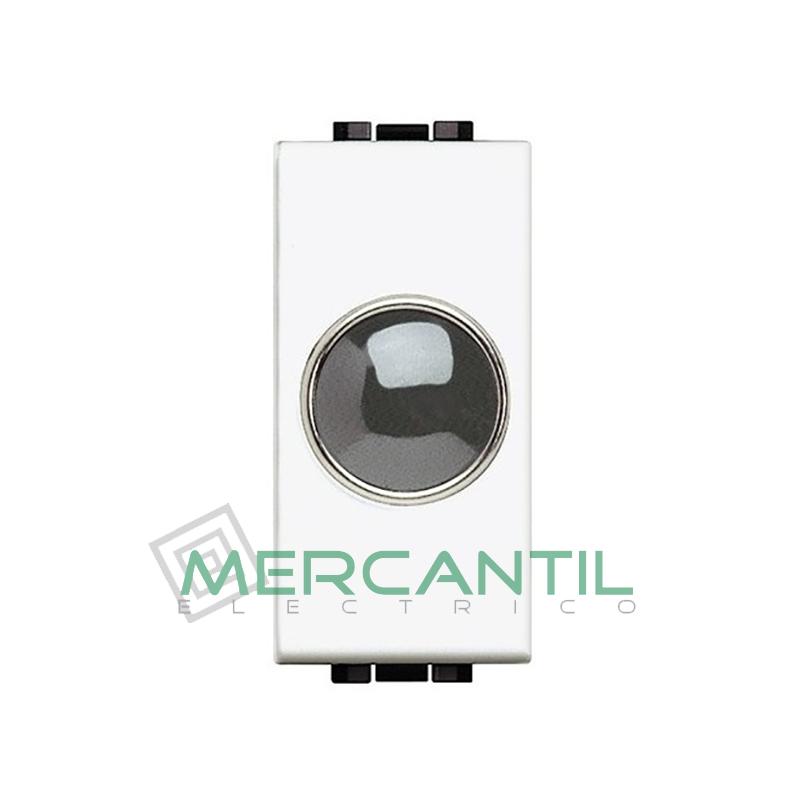 Portalamparas con Difusor 1 Modulo Living Light BTICINO - Color Transparente Blanco