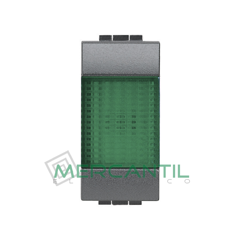 Portalamparas con Difusor 1 Modulo Living Light BTICINO - Color Verde Antracita