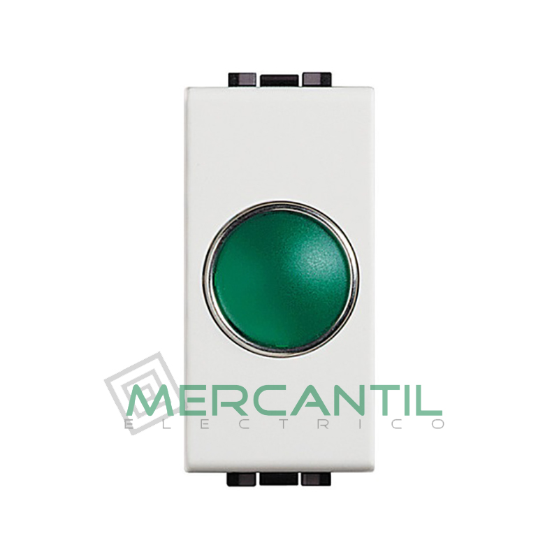 Portalamparas con Difusor 1 Modulo Living Light BTICINO - Color Verde Blanco