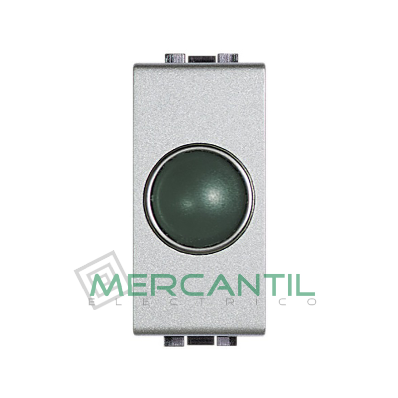 Portalamparas con Difusor 1 Modulo Living Light BTICINO - Color Verde Tech