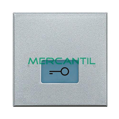 Tecla Axial con Lente y Simbolo Iluminable 2 Modulos Axolute BTICINO - Simbolo Llave Tech