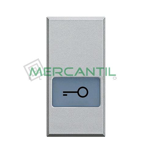 Tecla Axial con Lente y Simbolo Iluminable 1 Modulo Axolute BTICINO - Simbolo Llave Tech