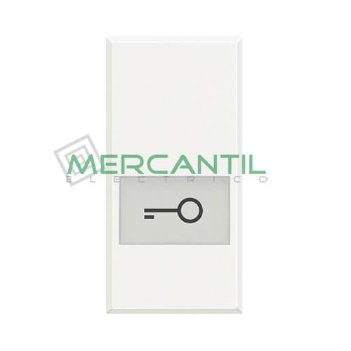 Tecla Axial con Lente y Simbolo Iluminable 1 Modulo Axolute BTICINO - Simbolo Llave Blanco
