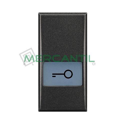 Tecla Axial con Lente y Simbolo Iluminable 1 Modulo Axolute BTICINO - Simbolo Llave Antracita