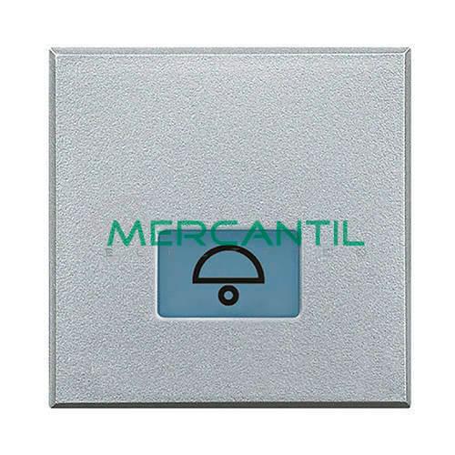 Tecla Axial con Lente y Simbolo Iluminable 2 Modulos Axolute BTICINO - Simbolo Luz Tech