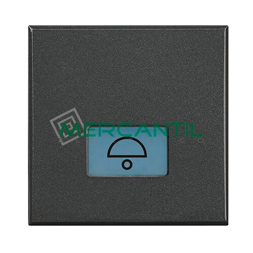 Tecla Axial con Lente y Simbolo Iluminable 2 Modulos Axolute BTICINO - Simbolo Luz Antracita