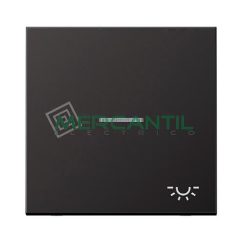 Tecla con Visor para Mecanismos LS990 JUNG - Simbolo Luz Dark