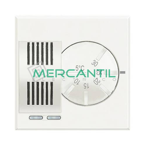Termostato Ambiente Electronico 2 Modulos Axolute BTICINO Blanco
