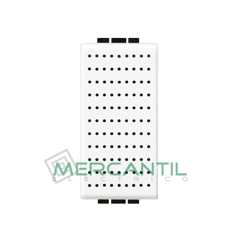 Timbre Bronce 230V 1 Modulo Living Light BTICINO Blanco