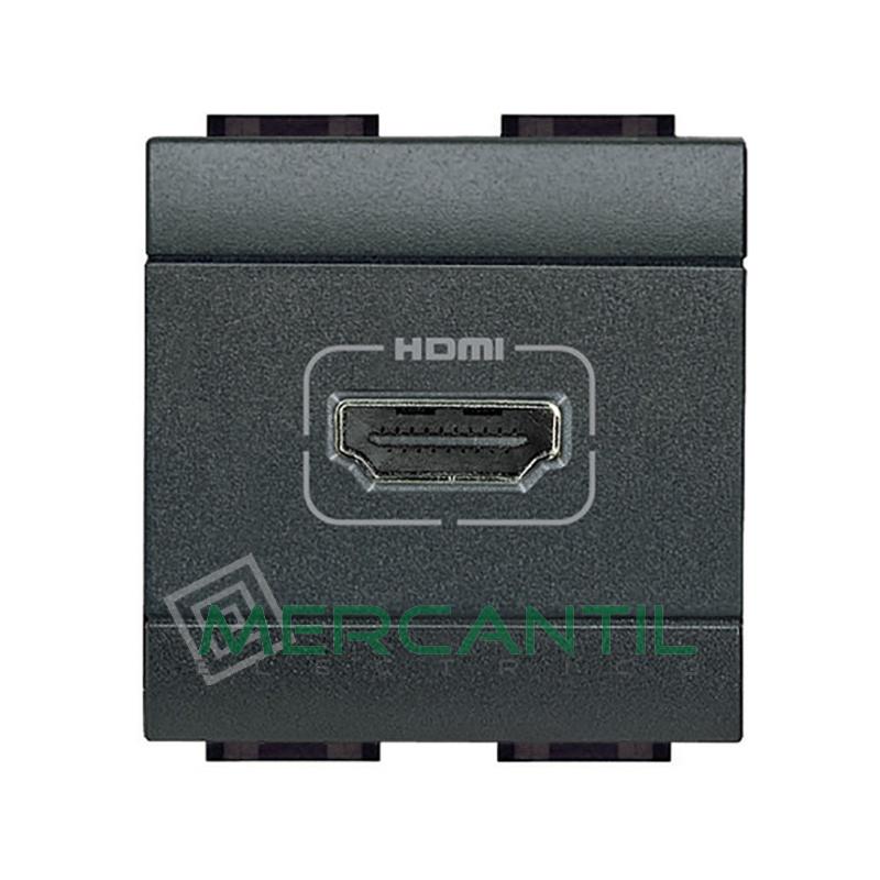 Base HDMI 2 Modulos Living Light BTICINO Antracita