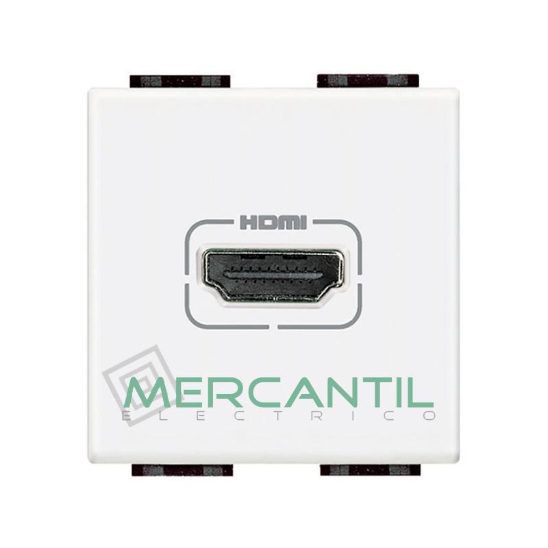 Base HDMI 2 Modulos Living Light BTICINO Blanco