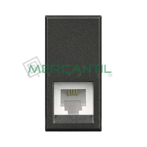 Base Telefonica con 4 Contactos RJ11 1 Modulo Axolute BTICINO Antracita