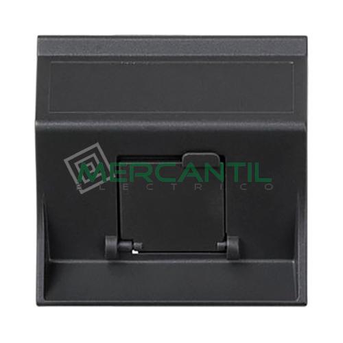 Adaptador Informatico Inclinado AMP/SYSTIMAX para UTP/FTP/Telefono SIMON 75 - 1 Conector Grafito