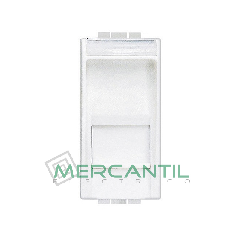 Base RJ45 STP Categoria 6 1 Modulo Living Light BTICINO Blanco