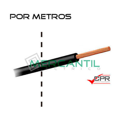Cable flexible libre de halogenos 25mm 450 750v h07z1 k for Cable libre de halogenos 25mm