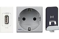 Bases de Enchufe y Cargadores USB