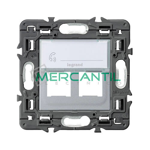 tapa-adaptador-base-doble-rj45-utp-cat6-aluminio-valena-next-legrand-741378